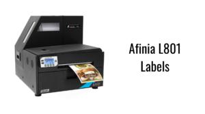 Afinia L801 Labels